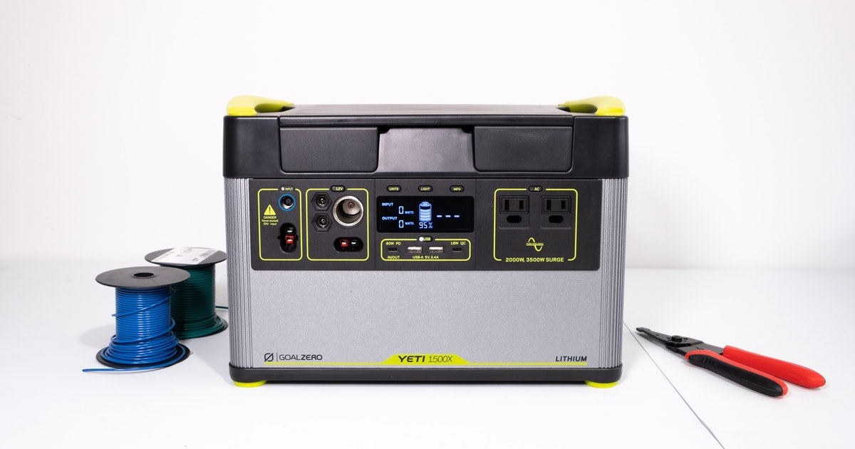 Goal Zero's Yeti 1500X is the best solar generator for most people - Input