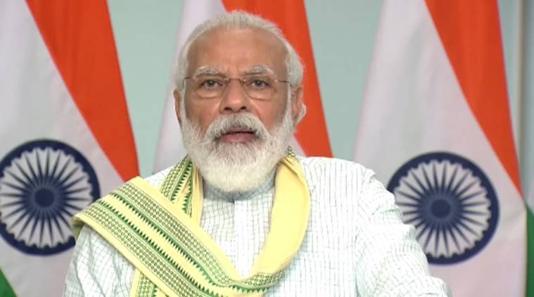 Prime Minister Narendra Modi, Pm Modi launches Asia's largest solar Plant, Rewa solar plant, Madhya Pradesh solar plant, India news, Indian express