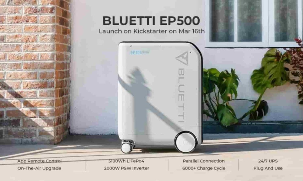 With the new EP500 solar battery from BlUETTI you can cut the cable to the power grid - KnowTechie