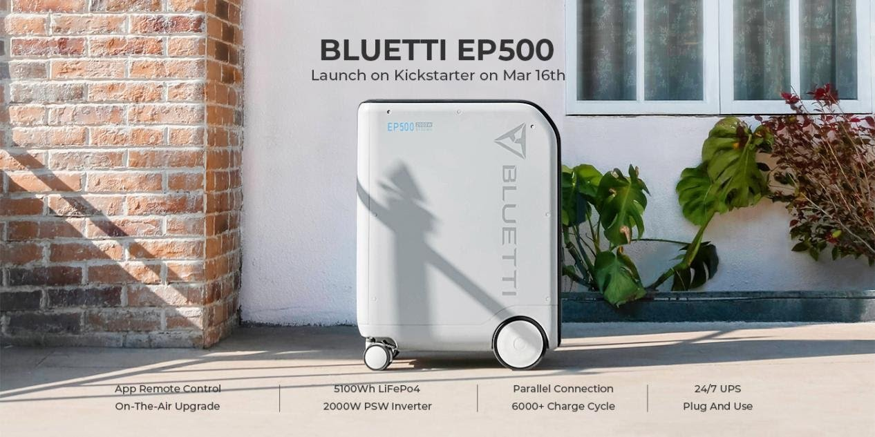 BLUETTI EP500: The huge 5100 watt-hour solar battery lets you cut the cable to the mains - AndroidGuys
