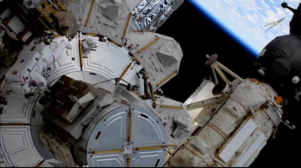 The spacewalk is underway to prepare the ISS for new solar panels - KTVI Fox 2 St. Louis