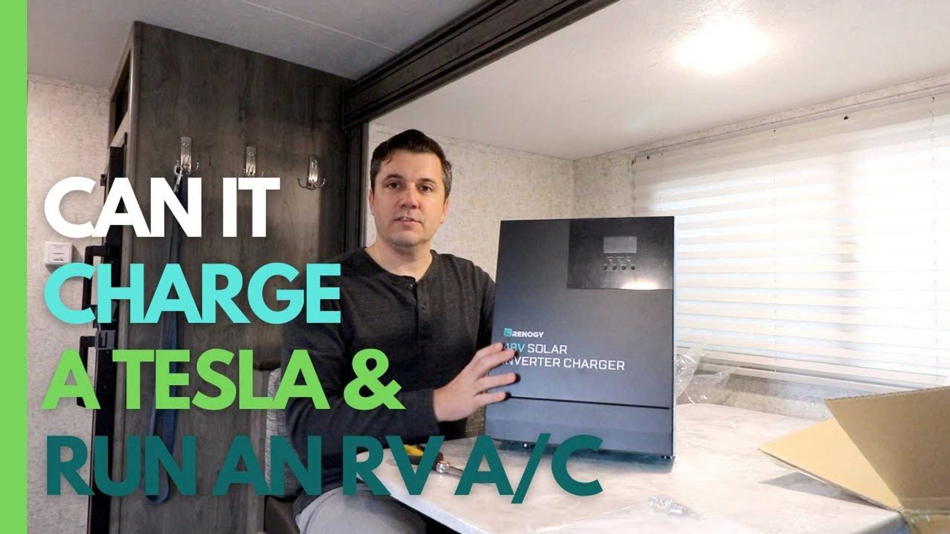 Charging a Tesla Model X with an all-in-one solar inverter charger - InsideEVs