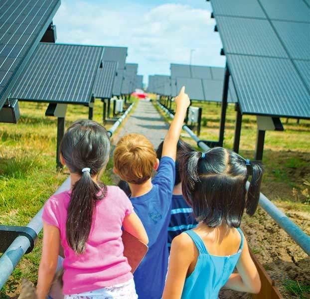 children pointing solar