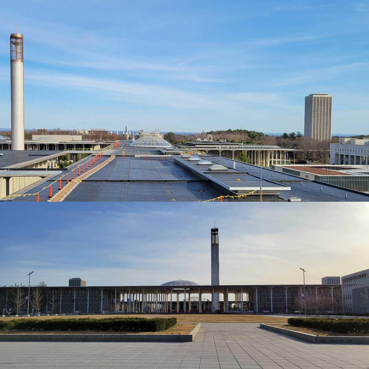 split view of buildings